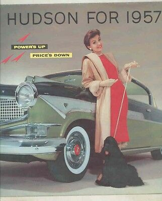1957 Hudson Hornet V8 Super Custom Hollywood Brochure Poster my5409