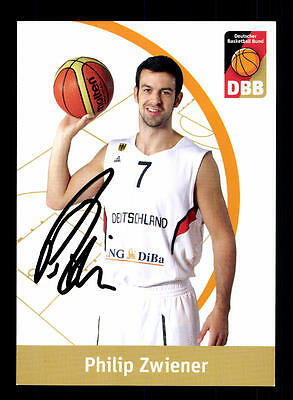 Philip Zwiener Autogrammkarte Basketball Nationalmannschaft 2013-14  + A 145202