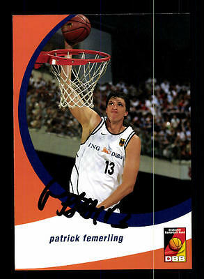 Patrick Femerling Autogrammkarte Basketball Nationalmannschaft  04-05+ A 145221