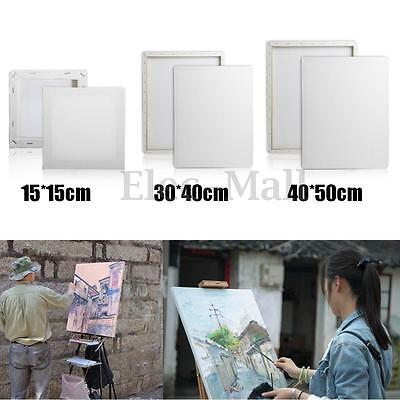 15-40cm Stretched Blank Drawing Craft Canvas Art Wood Frame Artist Painting Draw