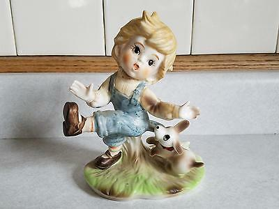 VINTAGE PUPPY DOG Biting Pulling Boys Britches Pants Figurine Cute Funny