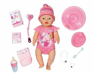 NEW! Baby Born Interactive Newborn Baby Girl Doll with Accessories