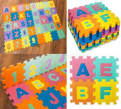Alphabet Play Learning Mat Large Size Foam Children Toddler Soft Jigsaw Puzzle