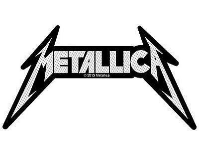 METALLICA shaped logo - 2013 - WOVEN SEW ON PATCH official merchandise