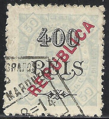 Angola: Scott 80 Used Fine - 1902 Stamps Of 1886/94 Surcharged