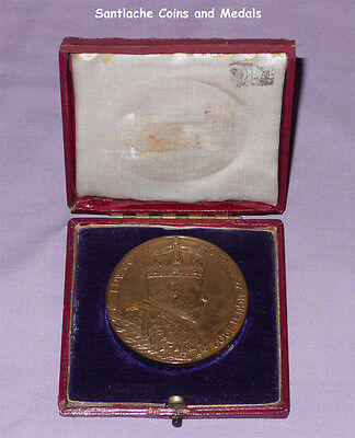 1902 Official Royal Mint King Edward Vii Coronation Medal In Bronze