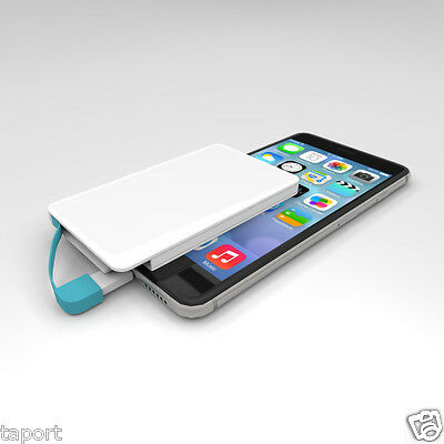 Ultra Thin Credit Card Mobile Power Bank 2600mah Battery Charger FOR IPHONE 5 6