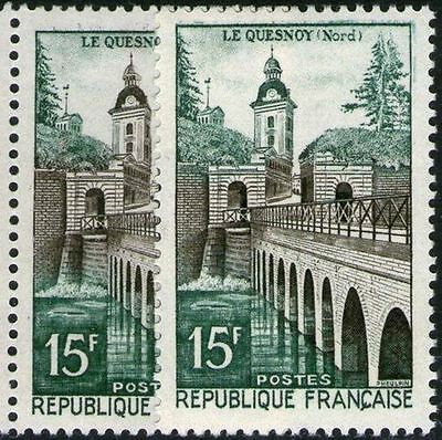 "FRANCE STAMP TIMBRE N° 1106 "" REMPARTS  LE QUESNOY , VARIETE COULEUR "" NEUFxxTTB"