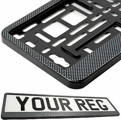 CARBON APPEARANCE Car Number Plate Surround Holder FOR ANY CAR TRUCK VAN TRAILER