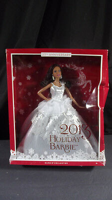 New Barbie Dolls 2013 Holiday Barbie 25Th Anniversary Black Aa