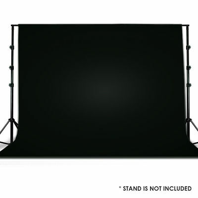 Seamless 10x10 Black Muslin Backdrop Photo Studio Photography Background