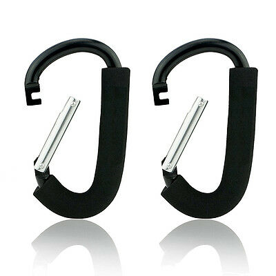 The Grip Clip, 2 X-Large Stroller Clip Hook Hanger Mommy