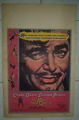 The King And Four Queens 1956 Us Window Card Clark Gable
