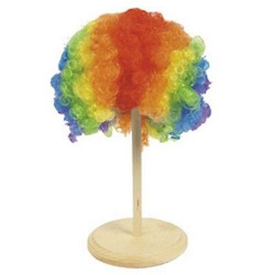 Circus Rainbow Curly Adult Clown Wig Costume