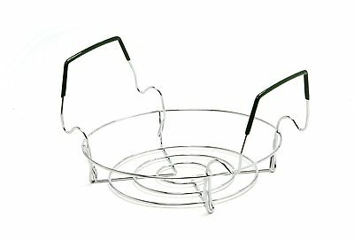 Norpro Chromed Steel Small Folding Canning Preserving Rack, Comfort Grip Handles