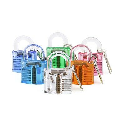 Locksmith Transparent Visible Pick Cutaway Practice Padlock Lock With Tool