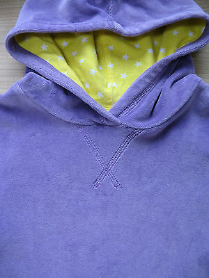 Mini Boden Girls Gorgeous Velour Hoody Top Jumper / Stars 4-5 Years Vgc