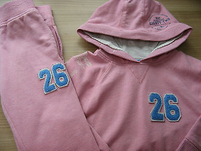Next Girls Pink Matching Tracksuit Jumper Top & Bottoms Trousers 4 Years Look