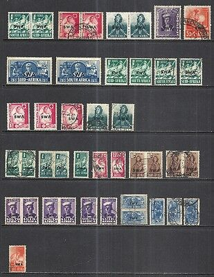 South West Africa: World War Ii Issues - Mint & Used  Cat $53