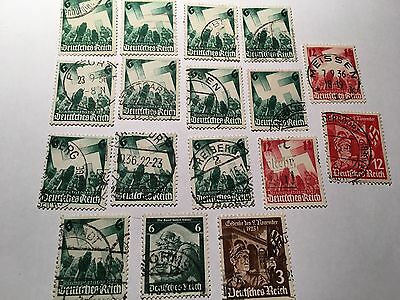 Germany Stamps Lot Of 17   From 1930's