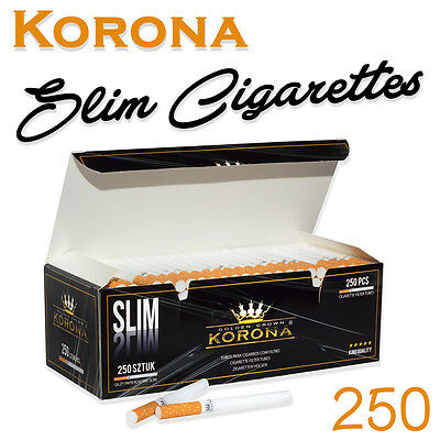 250 Korona Slim Classic Filter Tubes - Save Up To 30% On Tobacco Make Your Own