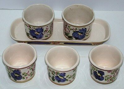 (6) Pc Gardening or Candleholder Set ~ 5 Pots & 1 Platter