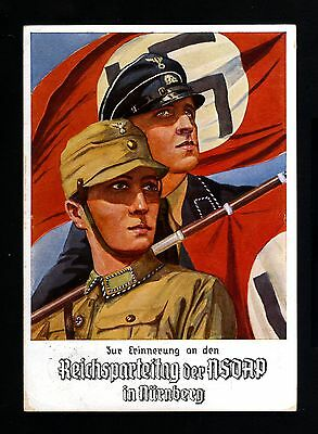 13549-GERMAN EMPIRE-Postcard NURNBERG.Soldiers.NSDAP.1934.WWII.DEUTSCHES REICH.