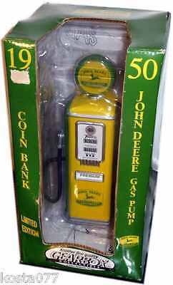 1997 Limited Edition 1950 John Deere Gas Pump Coin Bank Die Cast Metal Gearbox