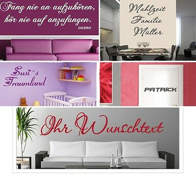 wandtattoo spruch selbst gestalten text wandaufkleber. Black Bedroom Furniture Sets. Home Design Ideas