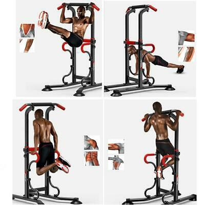 Pro Home Gym Fitness Power Tower Dip AB Pull/Chin Up Bar Workout Station