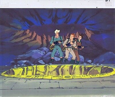 The Real Ghostbusters Original Production Animation Cel & Copy Bkgd #A11296
