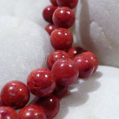 "Beautiful Apple Coral Natural Red Orange Bead Strand  7 to 7.2 MM Size 16"" (1)"