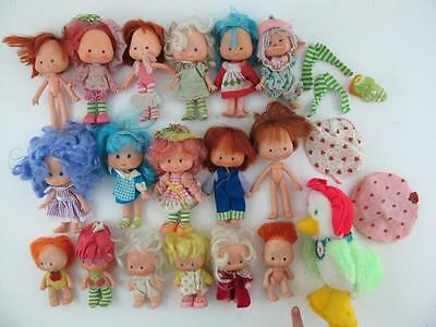 Lot of 19 Vintage 1980s Strawberry Shortcake Action Figure Dolls Kenner Original