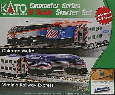 Escala N - Kato Unitrack Set de iniciacióN Virginia Railway Express 1060033 NEU