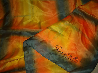 Gorgeous Remoy D'Urville hand painted large square silk scarf 34''