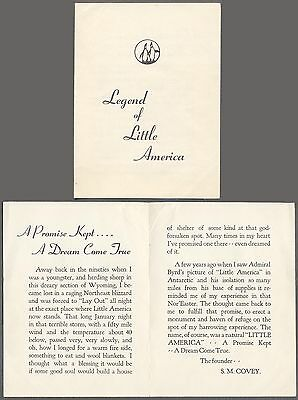 Vintage Legend of Little America Truck Stop Brochure Covey Wyoming 712524