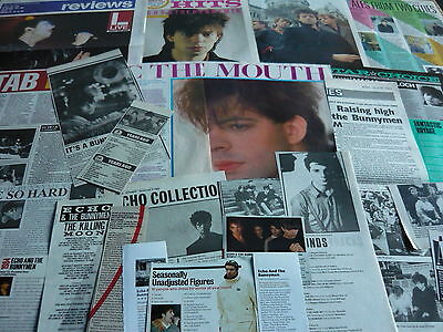 Echo & The Bunnymen - Magazine Cuttings Collection (Ref A)