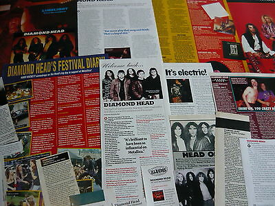 Diamond Head (Nwobhm) - Magazine Cuttings Collection (Ref X1A)