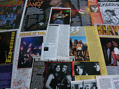 Exodus - Magazine Cuttings Collection (Ref X1A)