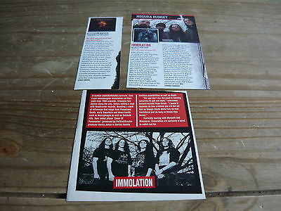 Immolation - Magazine Cuttings Collection (Ref T4)