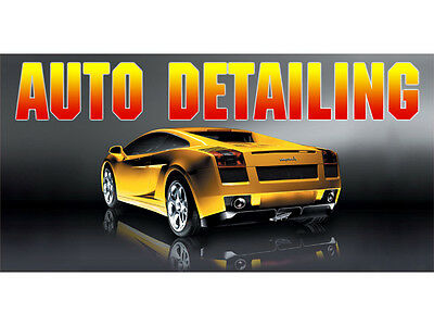 Bn0463 Auto Detailing Car Wash Quality Motorcycle Professional Banner Sign