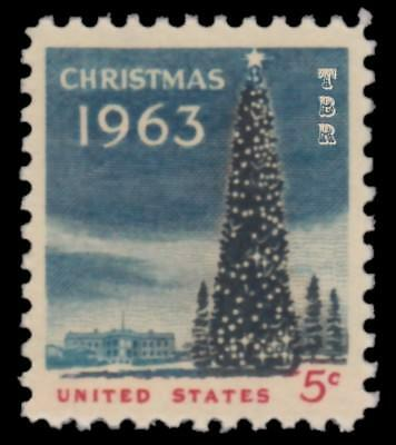 1240a Christmas Tree & White House 1963 Experimental Tagged Issue MNH - Buy Now