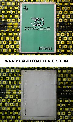 1973 Ferrari 365 GT4/2+2 owner's manual 75/73 (Operating, maintenance and servic