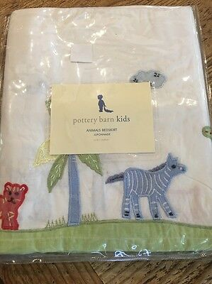 Pottery Barn Kids Animals Crib Bedskirt