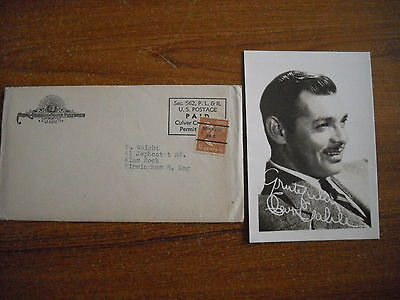 Clark Gable - Signed Photograph - 1947 - Printed Signature