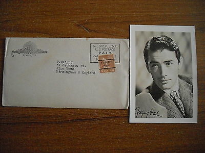 Gregory Peck - Photograph - 1947 - Printed Signature
