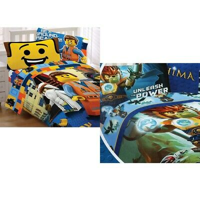 nEw LEGO CHARACTERS BEDDING SET - Lego Blocks Comforter Bed Sheets Pillowcase