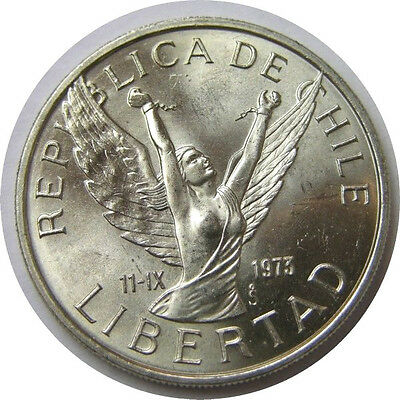 elf Chile 10 Pesos 1976  Winged Victory Unchained