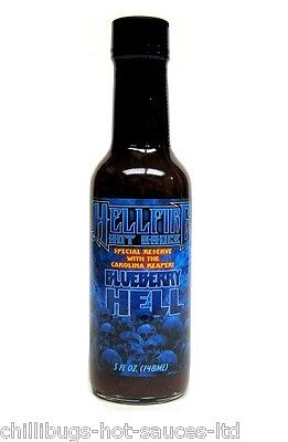 """""""HELLFIRE BLUEBERRY HELL"""" Special Reserve Hot Sauce - Made with Carolina Reaper"""