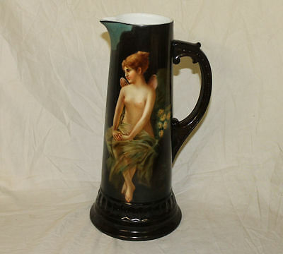 Large Antique Bavaria Tankard – Nude 15″ high